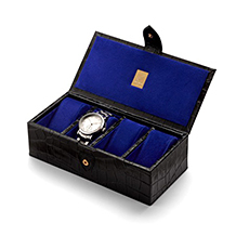 Ladies Four Watch Box. Leather Jewellery Boxes from Aspinal of London