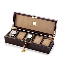 Five Watch Box. Leather Cufflink & Watch Boxes from Aspinal of London