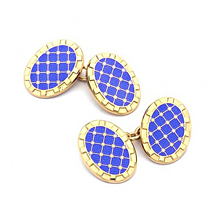 Sterling Silver & Gold Enamel Constellation Cufflinks. Sterling Silver, Gold & Enamel Cufflinks from Aspinal of London