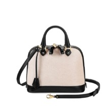 Mini Hepburn Bag in Monochrome Mix. Handbags & Clutches from Aspinal of London