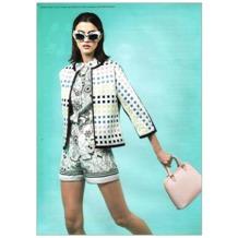 Mini Hepburn Bag in Deer Saffiano. Handbags & Clutches from Aspinal of London