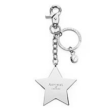 Metal Star Handbag Charm & Keyring. Key Rings & Charms from Aspinal of London