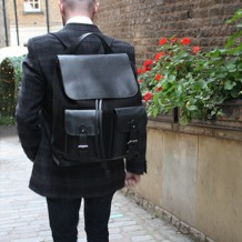 Shadow Rucksack in Brown Nubuck. Mens Messenger Bags from Aspinal of London