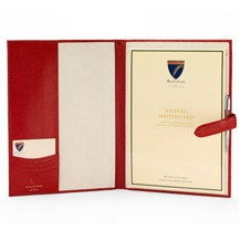 A4 Padfolio in Red Lizard. Leather Portfolios & Padfolios from Aspinal of London