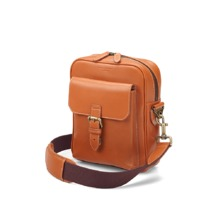 Small Harrison Messenger Bag in Smooth Tan. Mens Messenger Bags from Aspinal of London