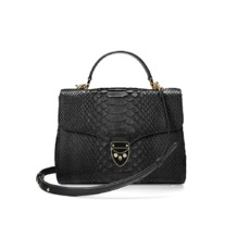 Mayfair Bag in Black Python. Evening & Clutches from Aspinal of London