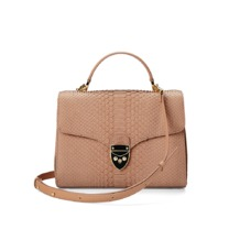 Mayfair Bag in Deer Nubuck Python. Evening & Clutches from Aspinal of London
