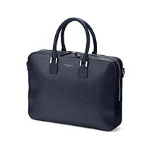 Small Mount Street Laptop Bag. Business Cases from Aspinal of London