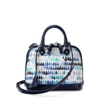 Mini Hepburn Bag in Navy Raindrop Nappa. Handbags & Clutches from Aspinal of London