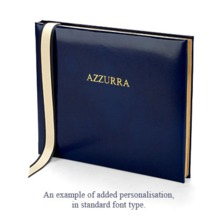 Ships Guest Book in Sapphire. Guest & Visitors Books from Aspinal of London