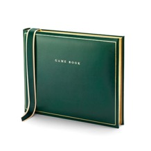 Classic Game Book in British Racing Green. Leather Game Books from Aspinal of London