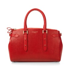 Brook Street Bag in Berry Lizard. Handbags & Clutches from Aspinal of London