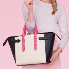 Midi Marylebone Tech Tote in Deer Saffiano. Handbags & Clutches from Aspinal of London