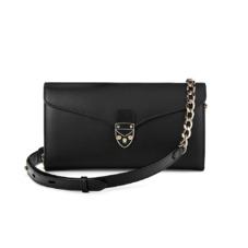 Mini Manhattan Clutch in Smooth Black. Handbags & Clutches from Aspinal of London