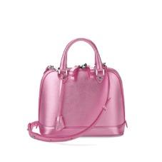 Mini Hepburn Bag in Metallic Pink Nappa. Handbags & Clutches from Aspinal of London