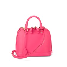Mini Hepburn Bag in Smooth Neon Pink. Handbags & Clutches from Aspinal of London