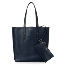 Aspinal Essential Tote in Navy Pebble & Smooth Navy. Handbags & Clutches from Aspinal of London