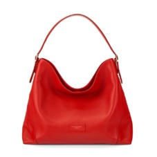Aspinal Hobo Bag in Berry Pebble. Handbags & Clutches from Aspinal of London