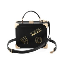 Mini Trunk Clutch in Smooth Black. Evening & Clutches from Aspinal of London