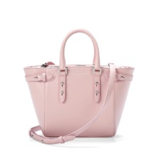 Mini Marylebone Tote in Smooth Powder Pink Nappa. Handbags & Clutches from Aspinal of London