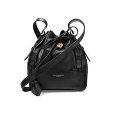 Mini Padlock Bucket Bag in Smooth Black Nappa. Handbags & Clutches from Aspinal of London
