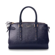 Brook Street Bag in Midnight Blue Lizard. Handbags & Clutches from Aspinal of London
