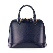 Hepburn Bag in Midnight Blue Lizard. Handbags & Clutches from Aspinal of London
