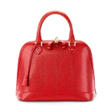 Hepburn Bag in Berry Lizard. Handbags & Clutches from Aspinal of London