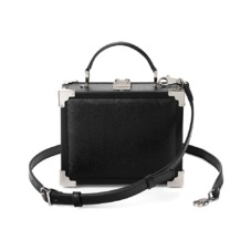 Mini Trunk Clutch in Black Saffiano. Evening & Clutches from Aspinal of London