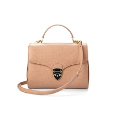 Mayfair Bag in Deer Saffiano. Evening & Clutches from Aspinal of London