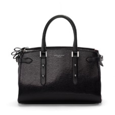 Brook Street Bag in Black Lizard. Handbags & Clutches from Aspinal of London