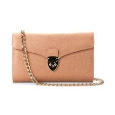 Manhattan Clutch in Deer Saffiano. Handbags & Clutches from Aspinal of London