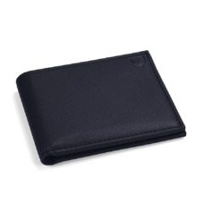 Billfold Wallet in Smooth Navy. Leather Billfold Wallets from Aspinal of London