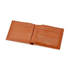 Billfold Wallet in Smooth Tan. Leather Billfold Wallets from Aspinal of London