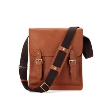 Small Shadow Messenger in Smooth Tan. Mens Messenger Bags from Aspinal of London