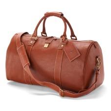 Boston Bag in Tan Pebble Calf. Mens Travel Bags from Aspinal of London