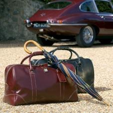 Boston Bag in Dark Brown Pebble Calf. Mens Travel Bags from Aspinal of London