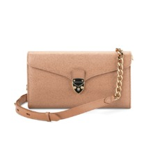 Mini Manhattan Clutch in Deer Saffiano. Handbags & Clutches from Aspinal of London