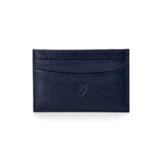 Slim Credit Card Case in Navy Lizard. Business & Credit Card Holders from Aspinal of London