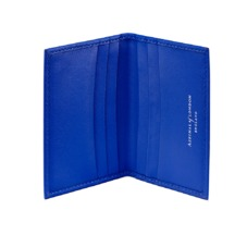 Double Fold Credit Card Case in Smooth Cobalt Blue. Business & Credit Card Holders from Aspinal of London