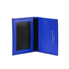 ID & Travel Card Case in Smooth Cobalt Blue & Black Suede. Business & Credit Card Holders from Aspinal of London