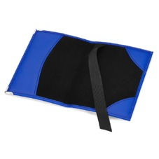 Plain Passport Cover in Smooth Cobalt Blue & Black Suede. Leather Passport Covers from Aspinal of London