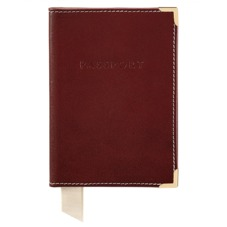 Plain Passport Cover in Smooth Cognac & Stone Suede. Leather Passport Covers from Aspinal of London