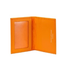 ID & Travel Card Case in Smooth Amber & Amber Suede. Business & Credit Card Holders from Aspinal of London