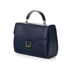 Mayfair Bag in Midnight Blue Lizard. Evening & Clutches from Aspinal of London