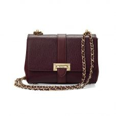 Lottie Bag in Burgundy Saffiano. Evening & Clutches from Aspinal of London