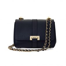 Lottie Bag in Smooth Navy. Handbags & Clutches from Aspinal of London