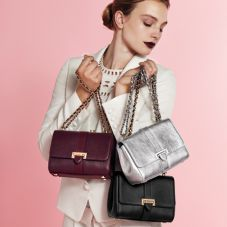 Lottie Bag in Burgundy Saffiano. Handbags & Clutches from Aspinal of London
