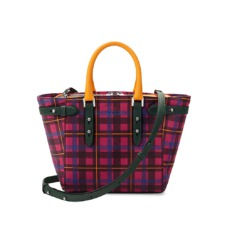 Aspinal x être cécile Marylebone Mini Tote in Deep Fuchsia Plaid. Handbags & Clutches from Aspinal of London