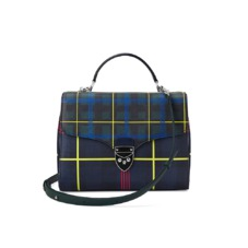 Aspinal x être cécile Mayfair Bag in Navy Plaid. Handbags & Clutches from Aspinal of London